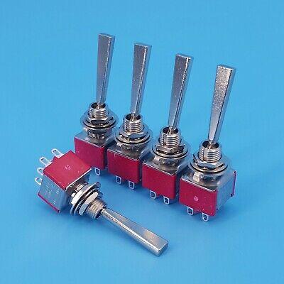 5pcs Sh T8011-u2 Long Flat Handle 6pin Dpdt On-on 2 Position Mini Toggle Switch