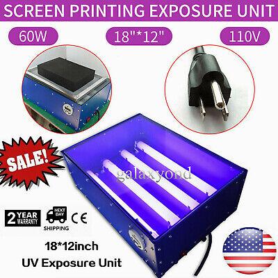 Us 110v 60w 18x12 Inch Exposure Unit Silk Screen Printing Plate Making Equipment