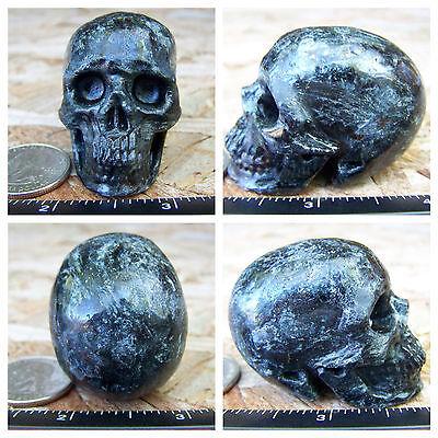 "2.01"" Astrophyllite Skull 103.1g 3.6oz Crystal Healing Large Altar Realistic"
