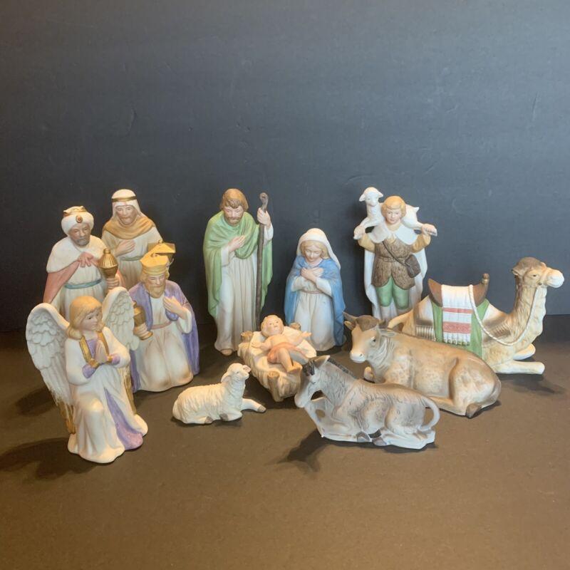 Vintage HOMCO Home Interiors Complete 13 Piece Nativity Set 5418 5419 5420 MINT