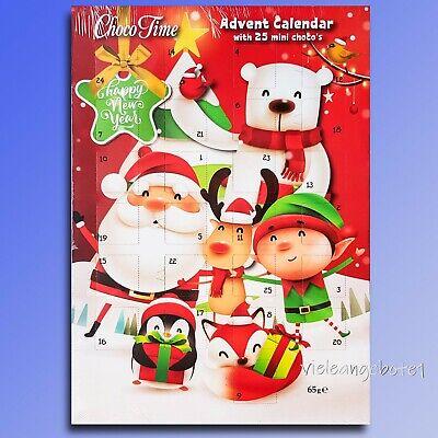Santa - Happynewyear Advent Calendar With Chocolate Christmas Calendar