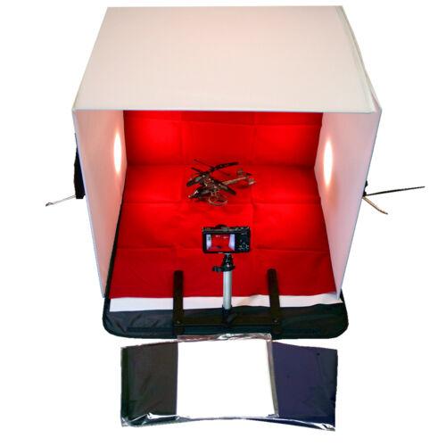 "24"" Photo Studio Photography Lighting Tent Kit Tripod Backdrop Cube In A Box"