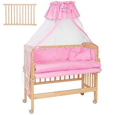 Baby Beistellbett Babybett Stillbett Stubenbett Kinderbett mit Vollausstattung p