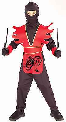 Dragon Costume For Boys (Boys Dragon Ninja Costume Child Halloween Kids Samurai Uniform Karate Large L)