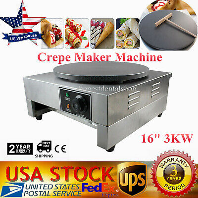 3kw Commercial Electric Crepe Maker Machine Pancake Kitchen Maker Non Stick 110v