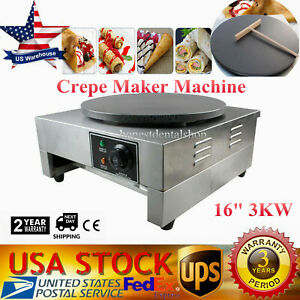 Electric Skillets Old Vendor Supply Counter Top Gas Double Crepe Maker Machine Traveling Cooking Appliances