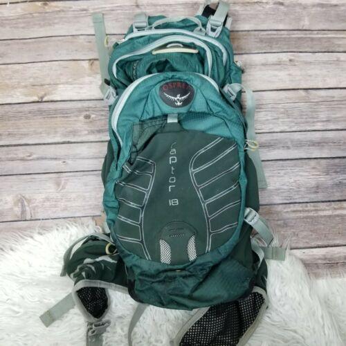 Osprey Raptor 18 hydration pack 828401 Green Hiking Biking Walking