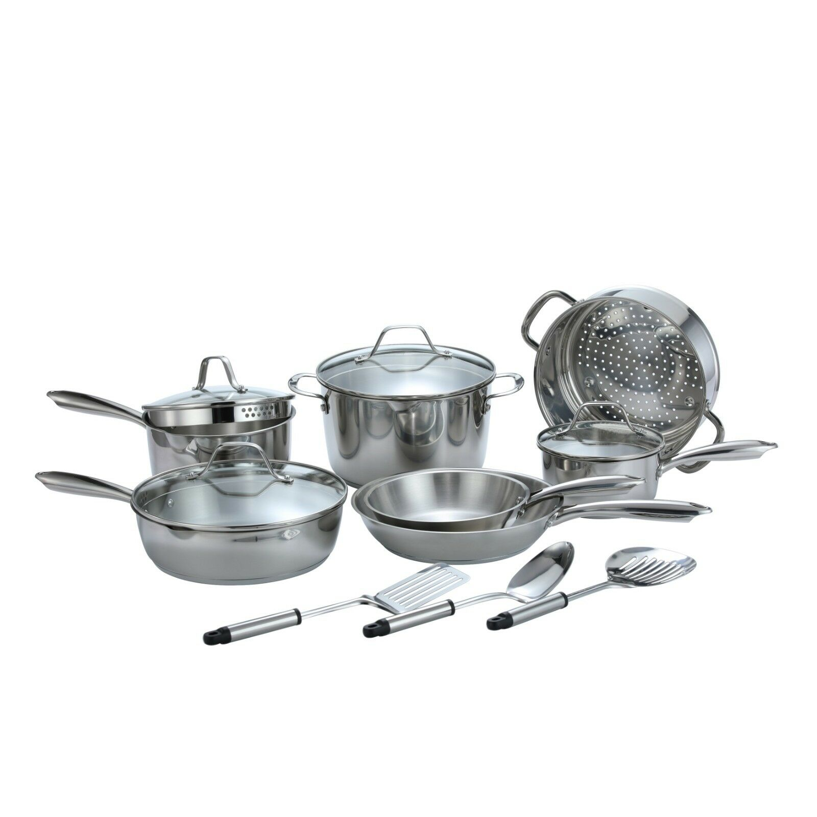 professional stainless steel 14 piece cookware kitchenware