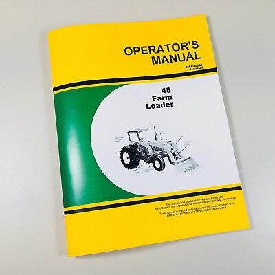 John Deere 48 Farm Loader Operators Manual For 2510 2520 3010 3020 Tractor
