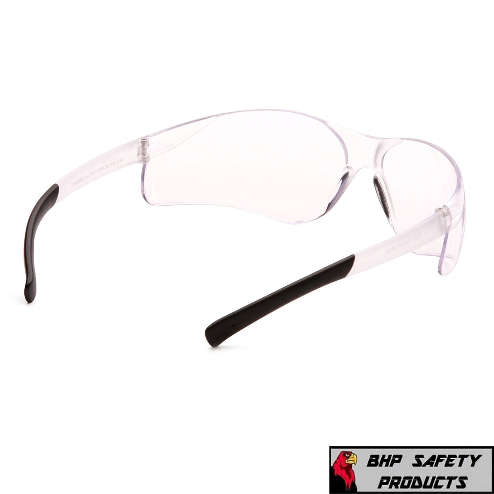 PYRAMEX ZTEK SAFETY GLASSES CLEAR LENS SPORT WORK EYEWEAR S2510S (12 PAIR) Z87+