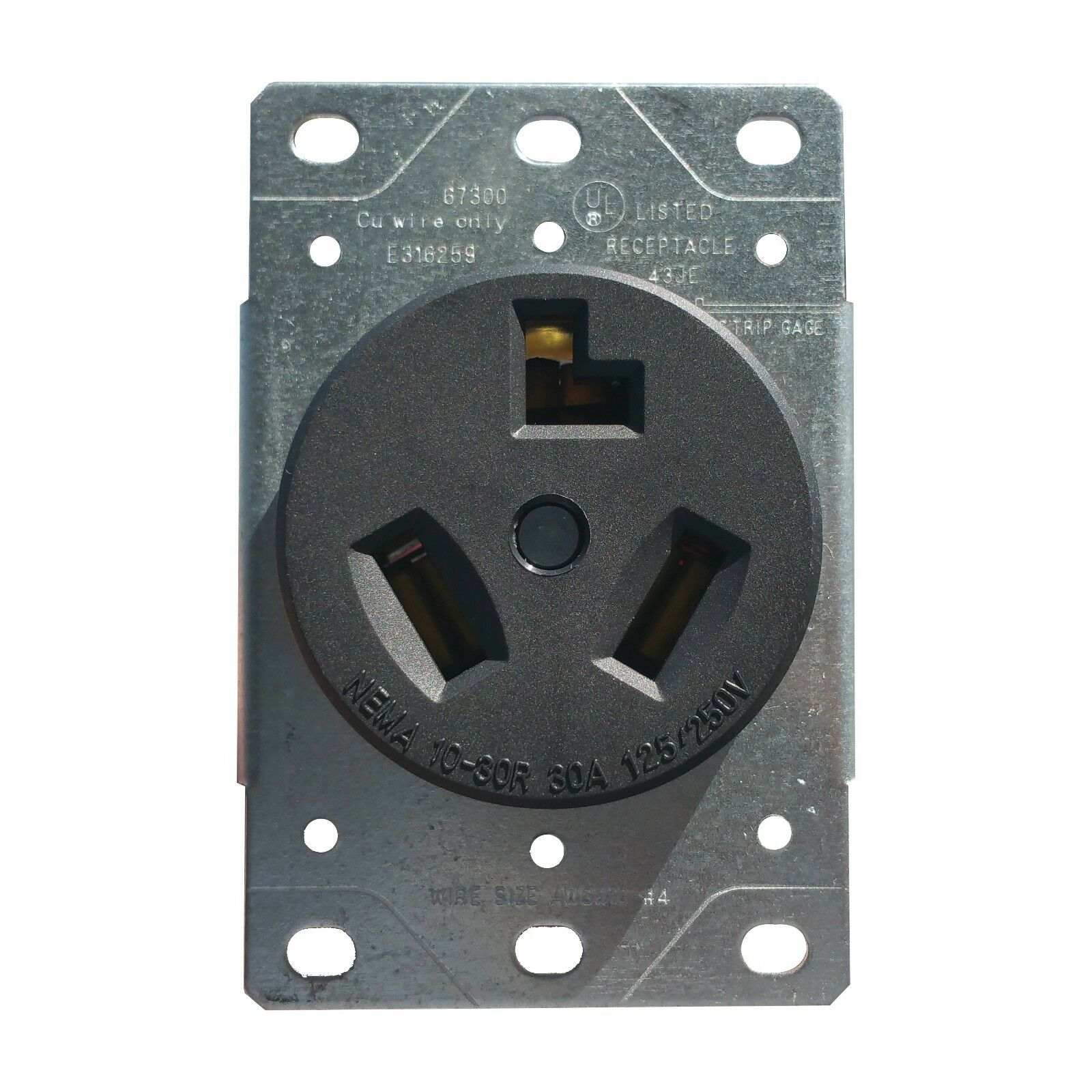 ENERLITES 30A Dryer Plug Receptacle 3 Wire Power Outlet ...