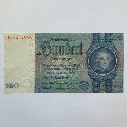 100 NAZI GERMAN Mark SWASTIKA Banknote (1935) P183  aUNC WWII, WW2 Memorabilia