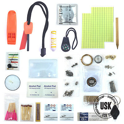USK Emergency Survival Kit - Urban Camping Bushcraft Bug Out Bag EDC Gear Kit