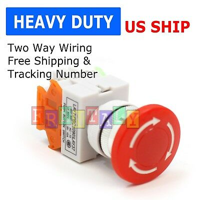 New Emergency Stop Switch Push Button Mushroom Emergency Shut Off Switch Button