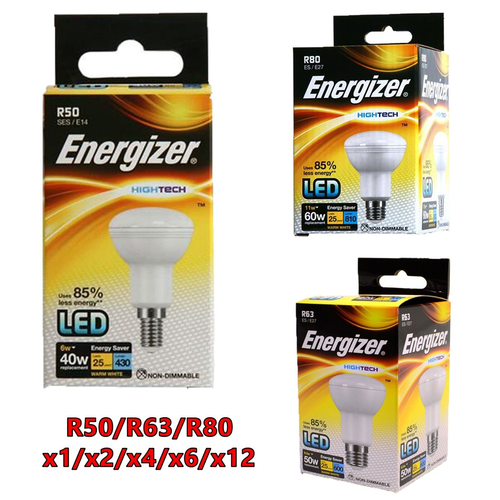 NEW 2 X R8 Halogen Reflector Bulbs Dimmable Satin Warm White ES//E27 42W 240v