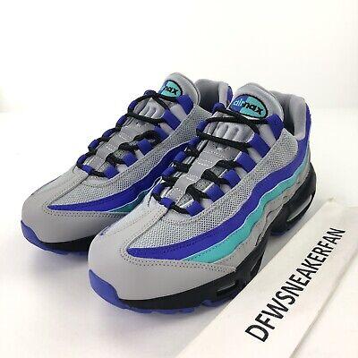 74f414f34b Nike Air Max 95 OG Men's 10.5 Black Indigo Burst Grape AQUA Shoes  AT2865-001 New