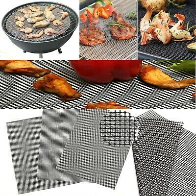 BBQ Grill Mesh Non-Stick Mat Reusable Teflon Sheet Resistant Barbecue Meat UK