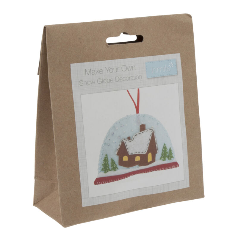 1x+Felt+Decoration+Thread+Kit+Snow+Globe+Sewing+Craft+Tool+Hobby+Art+UK