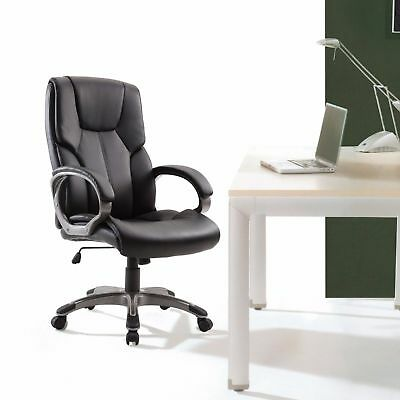 Office Chair High Back Pu Leather Computer Ergonomic Desk Swivel Executive Black