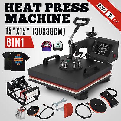 15x15 T-shirt Heat Press Transfer 6in1 Combo Printing Sublimation Diy Printer