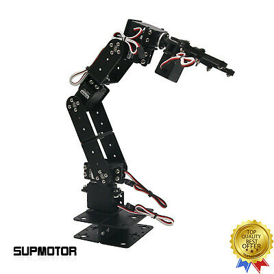 Aluminium Robot 6 Dof Mechanical Robotic Arm Clamp Claw Mount Kit For Arduino