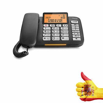 TELEFONO FIJO DL580 NEGRO SIEMENS-GIGASET