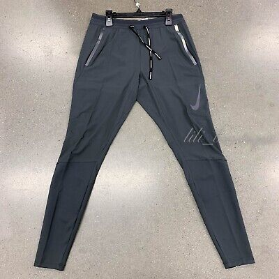 NWT Nike BV4809-070 Men Swift Running Pants Flex Dri-Fit Dark Smoke Grey Size M