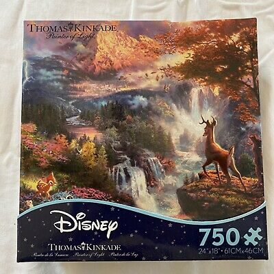 BAMBI'S FIRST YEAR USED 750 pc DISNEY DREAMS COLLECTION puzzle by Thomas Kinkade