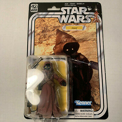 "Star Wars 40th Anniversary Black Series Jawa - 6"" MOC Hasbro Vintage Kenner"