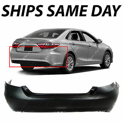 NEW Primered Rear Bumper Cover Replacement for 2015 2016 2017 Toyota Camry 15-17