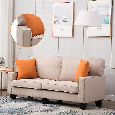 Wohnzimmer Moderne Schlafsofa (2 Sitzer Schlafsofa Polstersofa Sofa Couch Wohnzimmer Sessel Stoffsofa Beige)
