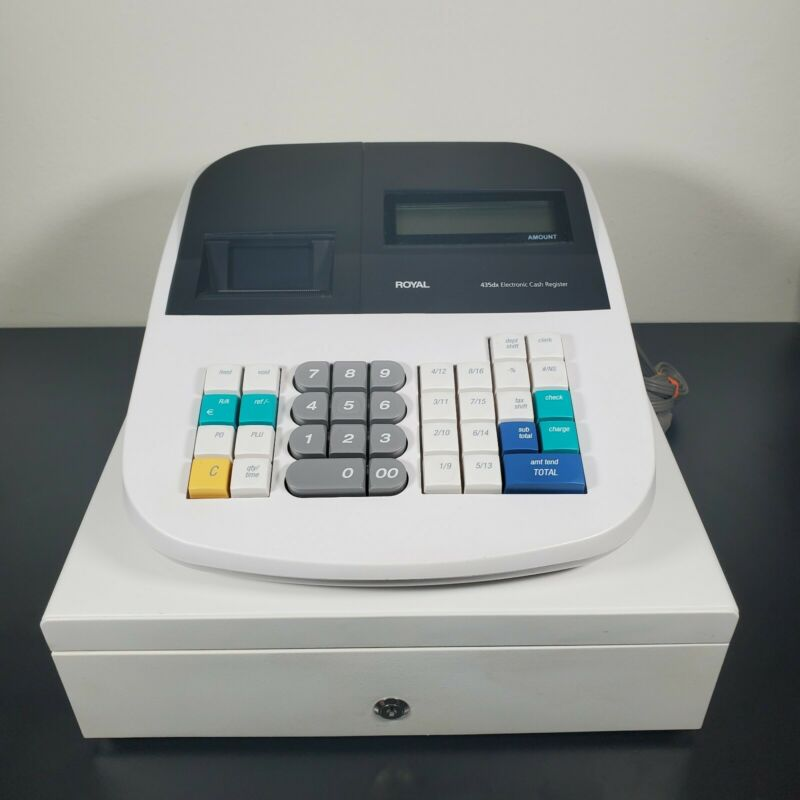 Royal 435dx Electronic Cash Register Tested Working *No Keys* Programmable Nice