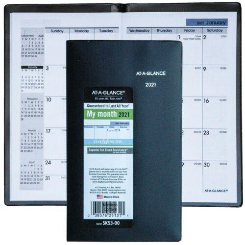 """2021 At-A-Glance DayMinder SK53-00 Monthly Pocket Planner, 3-5/8 x 6-1/16"""""""