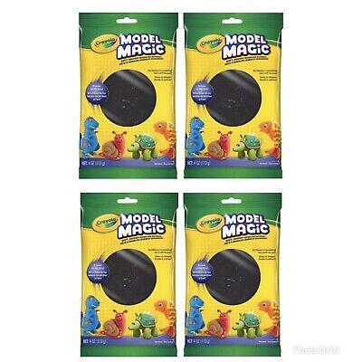 4 Pack Lot Crayola Model Magic 4 oz each Reusable/Air Dry Black Clay Craft Kids Model Magic Craft Pack
