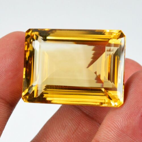 94.60 Ct Vvs Natural Certified Golden Citrine Octagon Shape Loose Gemstone