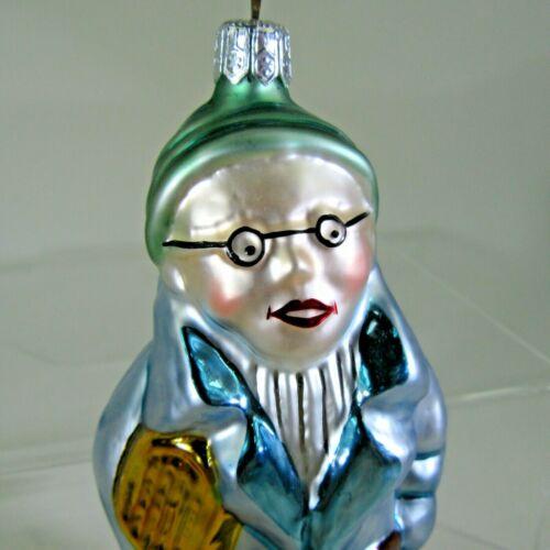 "Christopher RADKO 1994 UNCLE MAX glasses man X-mas Ornament #94-066-0  RARE 6"""