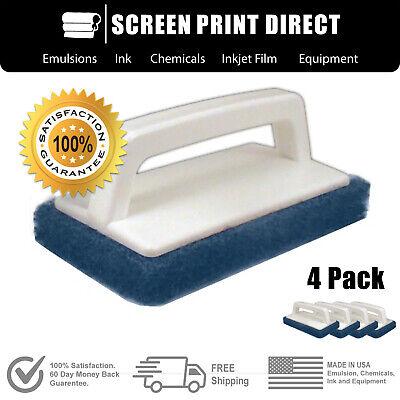Ecotex -screen Printing 4 Pack Scrub Pad Great For Reclaiming Mesh Safe