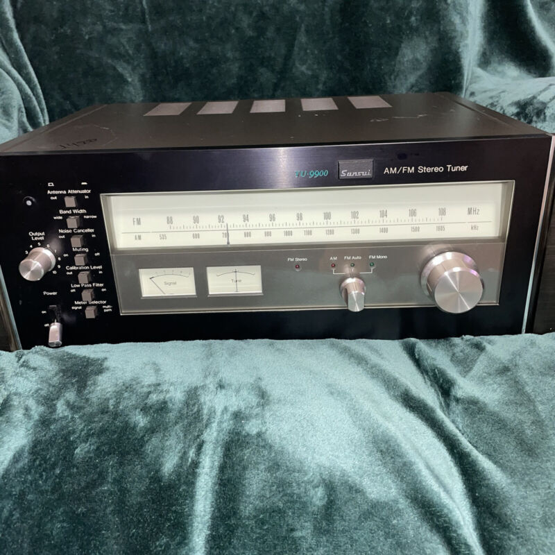 Vintage Sansui TU-9900 Stereo Tuner Working Condition