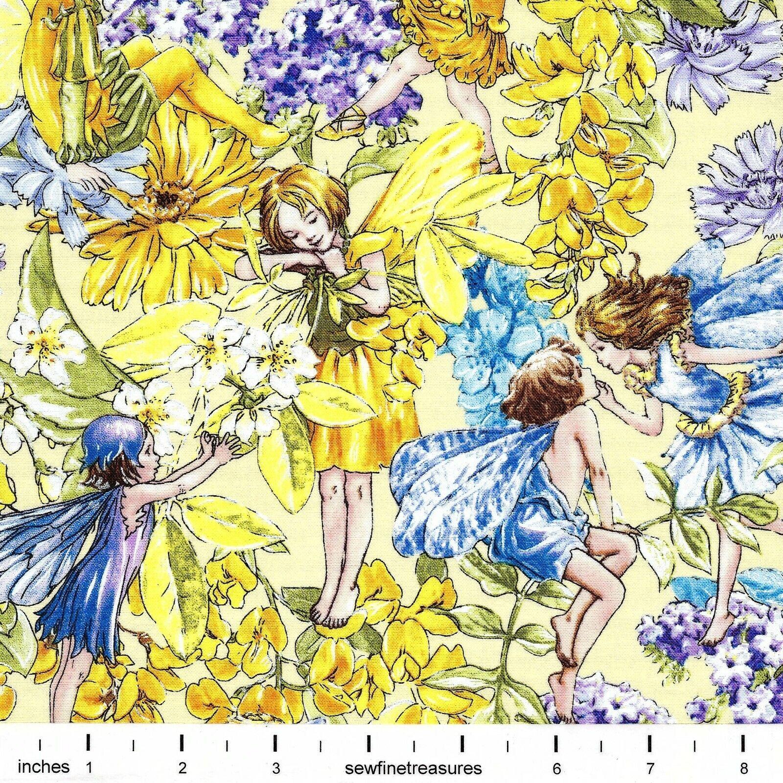 Flower Fairies DAY SUNNY FAIRY ALLOVER Michael Miller Fabric