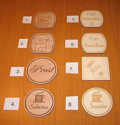 individuelle Bierdeckel,Untersetzer,Wunschgravur,Bierdeckel aus Holz,Bierdeckel