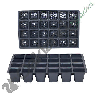 200 x 24 Cell Seed Tray Inserts Full Size Plug Trays Bedding Plant Pack
