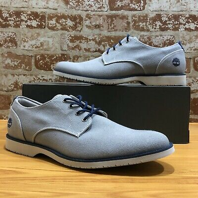 Timberland Men Woodhull Lightweight Oxford Gray Canvas with Memory Foam Sz 10.5