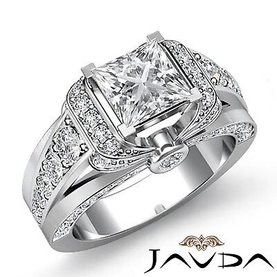 2.25ctw Knot Shape Side Stone Princess Diamond Engagement Ring GIA F-VS2 Gold