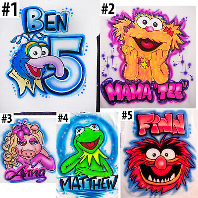 Muppets Animal Hoodie (Airbrushed Personalized Animal Sesame Muppets T-shirt Bodysuit Hoodie)
