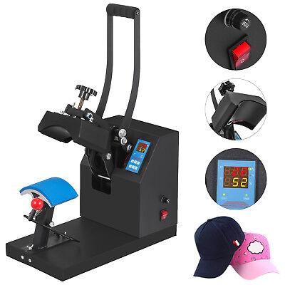 "Heat Press Transfer Digital Clamshell 7""x3.5"" Hat Cap Sublimation Machine"