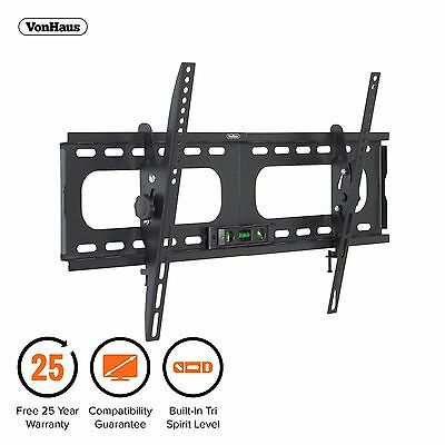 "VonHaus 33-60"" Tilt TV Wall Mount Bracket with Built-In Tri Spirit Level"