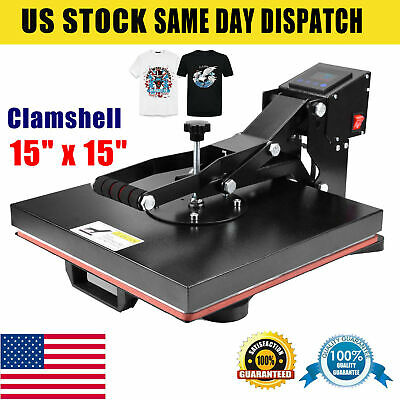 15 X 15 Heat Press Machine Clamshell T-shirt Diy Sublimation Digital Transfer