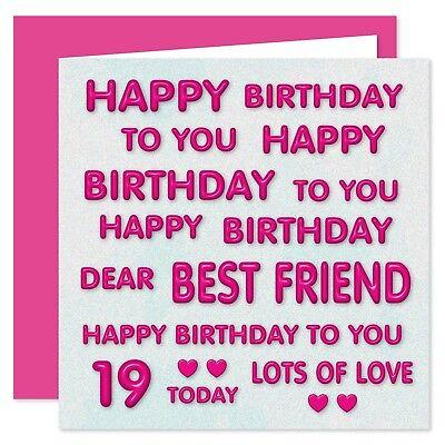 - Dear Best Friend Happy Birthday Card - Age Range 16 - 100 Years BFF Perfect Pink