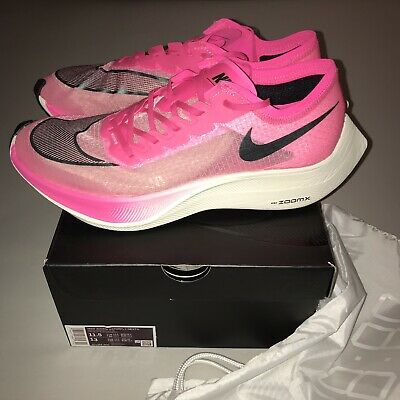 Nike Zoomx Vaporfly Next%  M-11.5/ W-13 Pink Blast/Black-Guava Ice