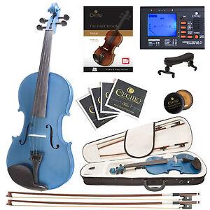 Cecilio-4-4-Ebony-Fitted-Solidwood-Violin-Metallic-Blue-Tuner-Book-Audio-Video